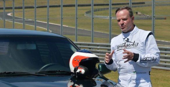 Rubens Barrichello durante gravação para o Acelerados Imagem Divulgação Band - parte 2