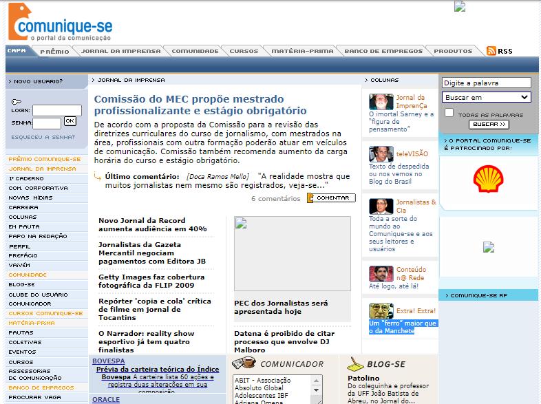 portal comunique-se 2009