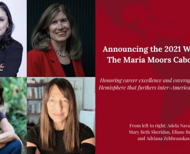Jornalistas brasileiras vencem o prêmio Maria Moors Cabot 2021