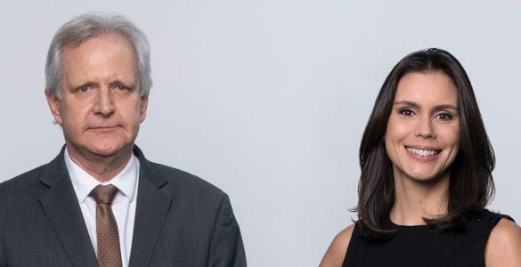 augusto nunes e camila busnello - jornal da record news - dupla de apresentadores - edu moraes