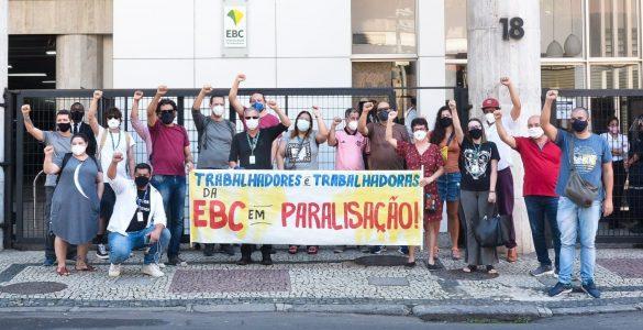 Jornalistas vão às ruas contra a privatização da EBC