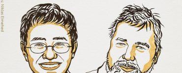 Jornalistas vencem o Nobel da Paz por defesa da liberdade de expressão